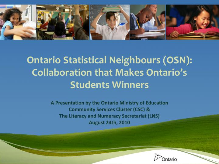 Ontario statistical neighbours osn collaboration that makes ontario s students winners
