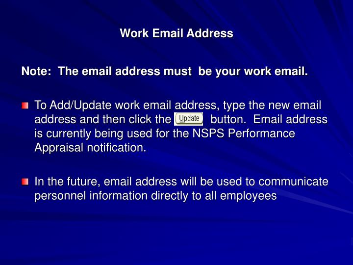 Work Email Address