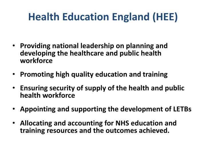 Health Education England (HEE)