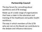 partnership council