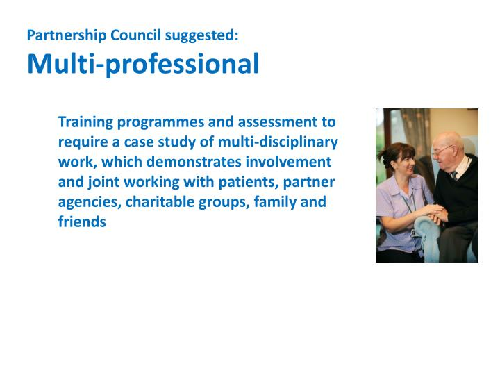 Partnership Council suggested: