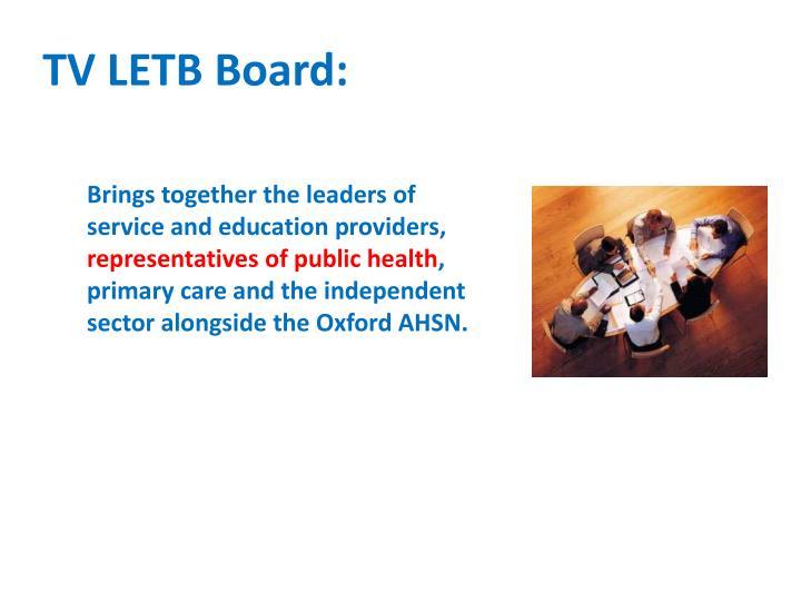 TV LETB Board: