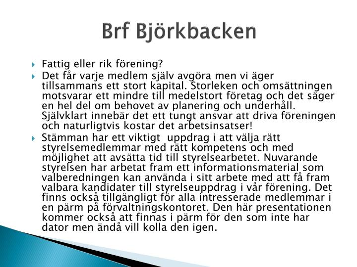 Brf Björkbacken
