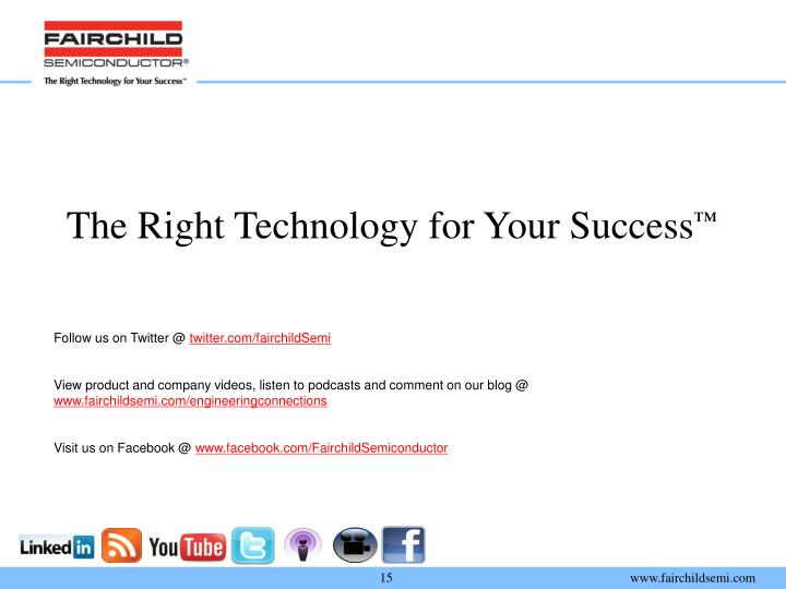 The Right Technology for Your Success