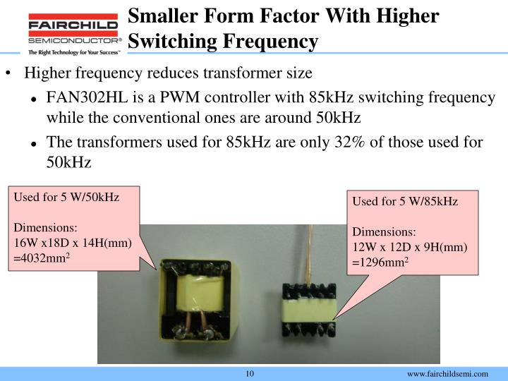 Smaller Form Factor With Higher Switching Frequency