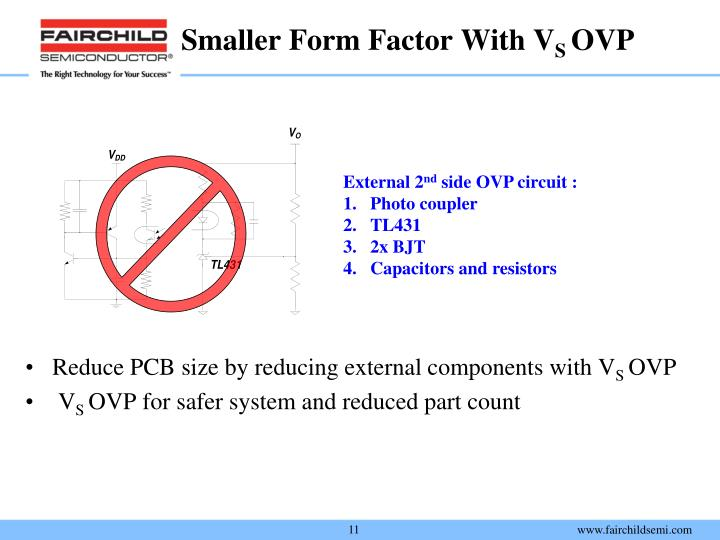 Smaller Form Factor With V