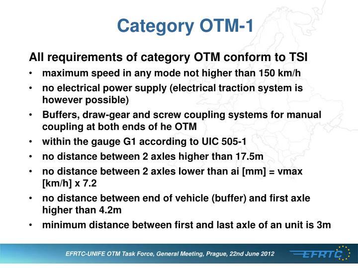 Category OTM-1
