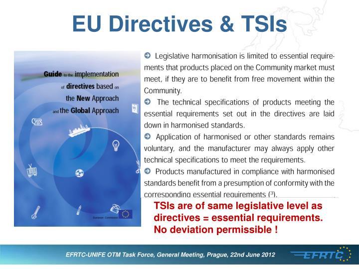 EU Directives & TSIs