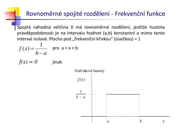 Rovnoměrné spojité rozdělení - Frekvenční funkce