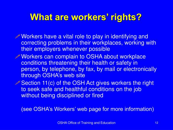 What are workers' rights?