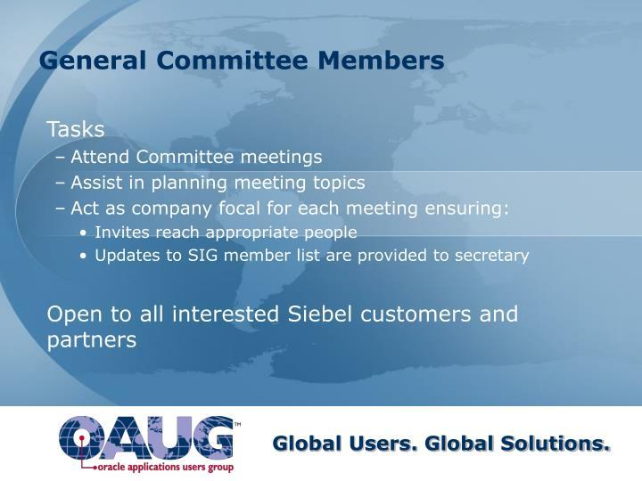General Committee Members