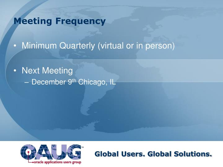Meeting Frequency