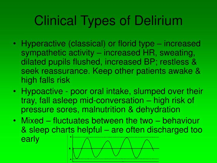 Clinical Types of Delirium