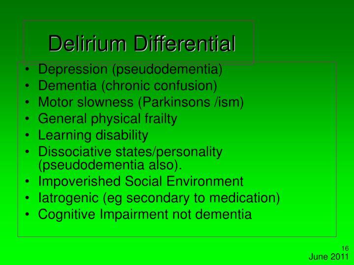 Delirium Differential