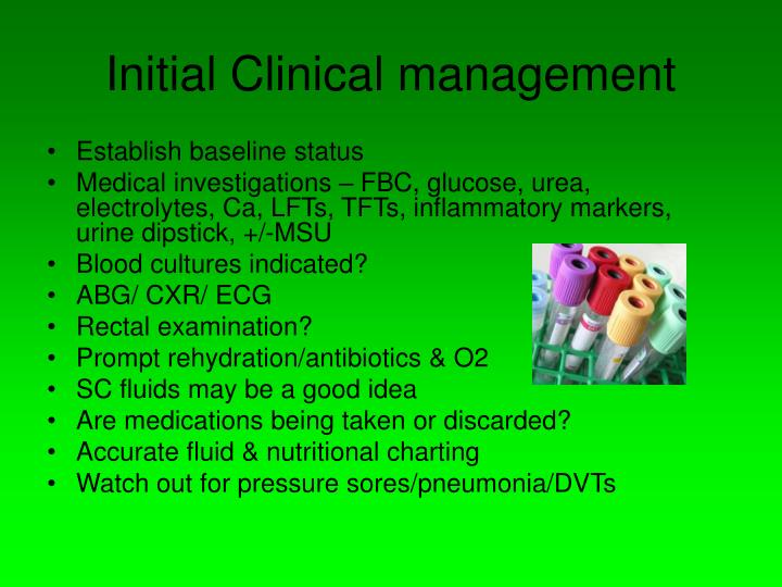 Initial Clinical management