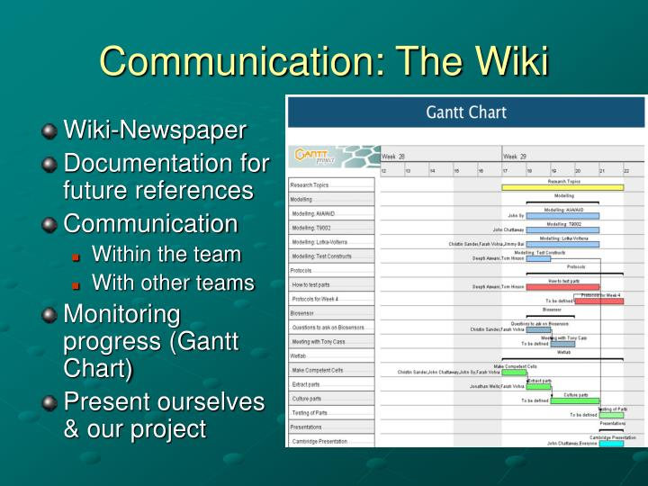 Communication: The Wiki
