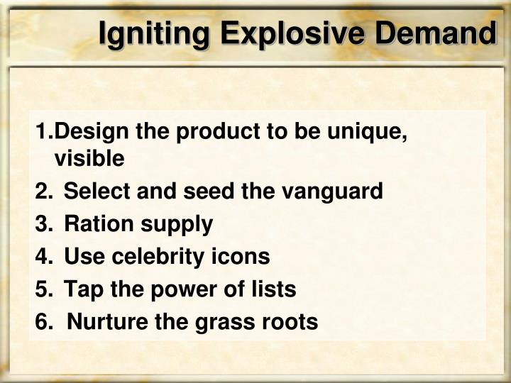 Igniting Explosive Demand