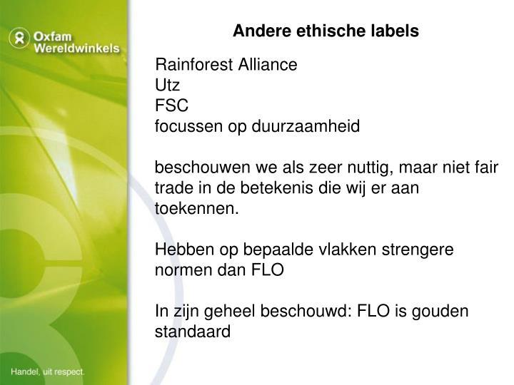 Andere ethische labels