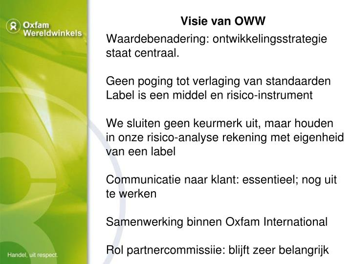 Visie van OWW