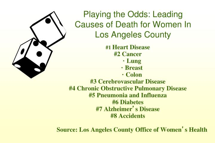 Playing the Odds: Leading Causes of Death for Women In Los Angeles County