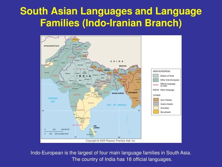 South Asian Languages and Language Families (Indo-Iranian Branch)