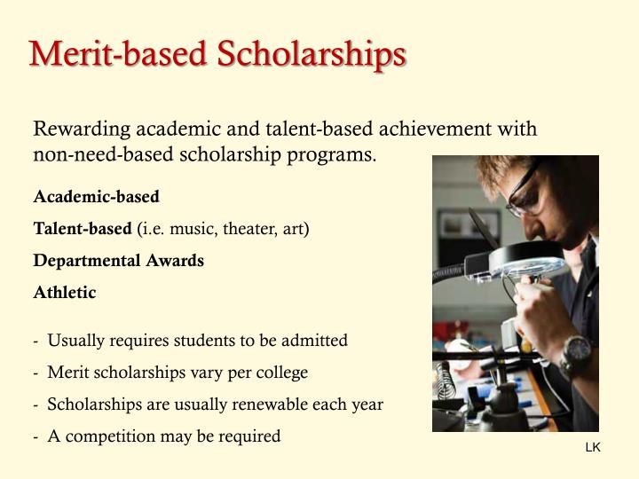 Merit-based Scholarships