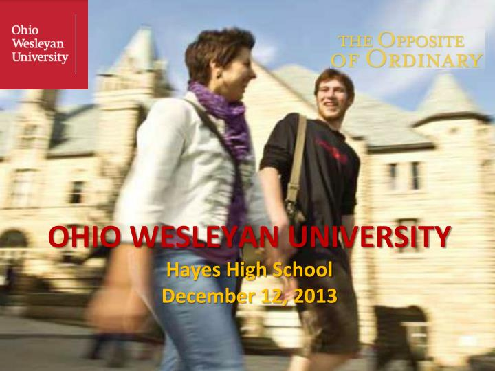 Ohio wesleyan university hayes high school december 12 2013