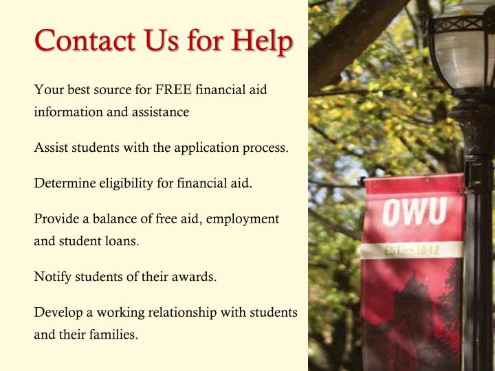 Contact Us for Help