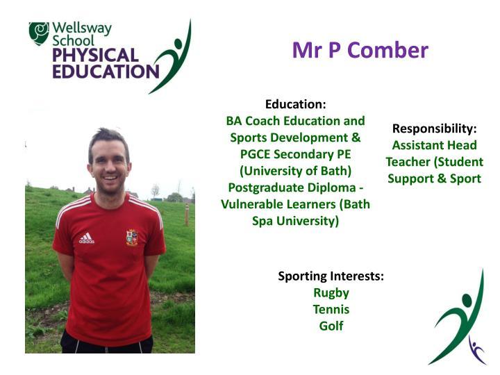 Mr P Comber