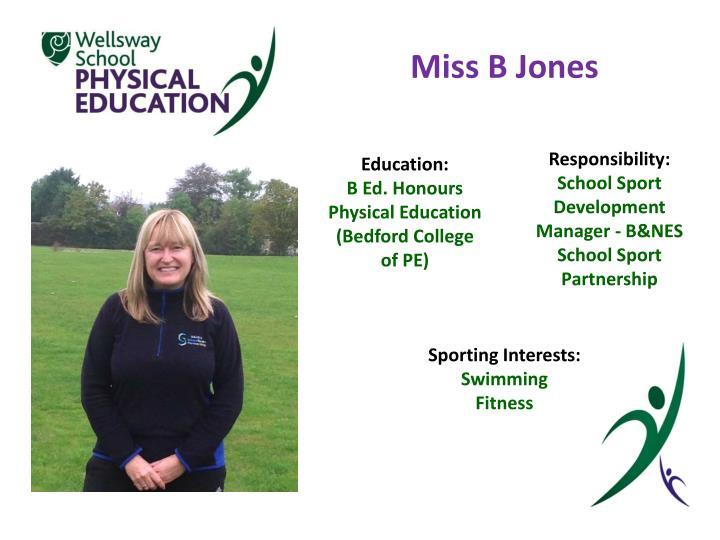 Miss B Jones