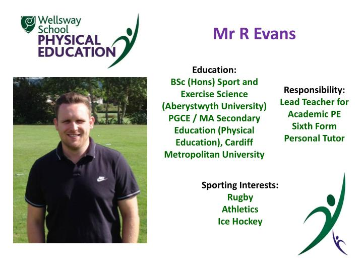 Mr R Evans