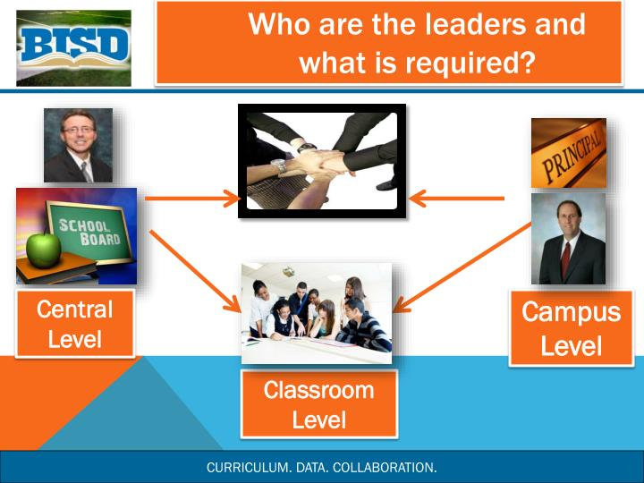 Who are the leaders and what is required?