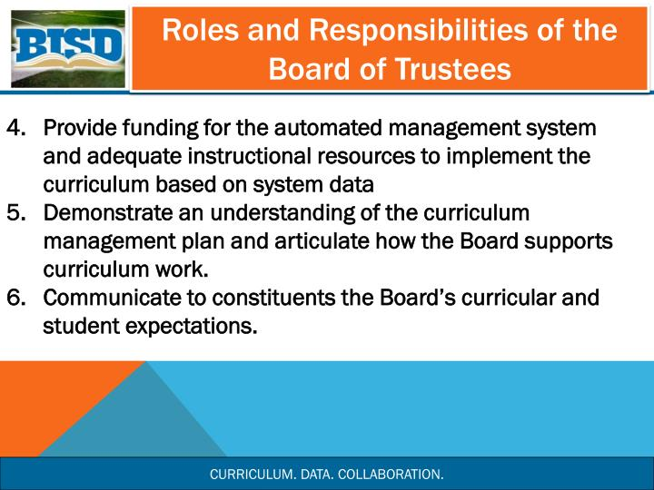 Roles and Responsibilities of the Board of Trustees