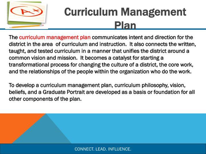 Curriculum Management Plan