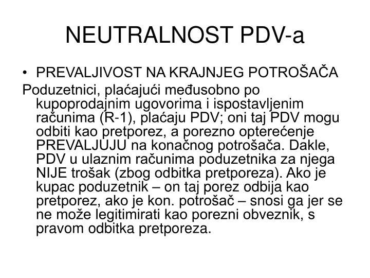 NEUTRALNOST PDV-a