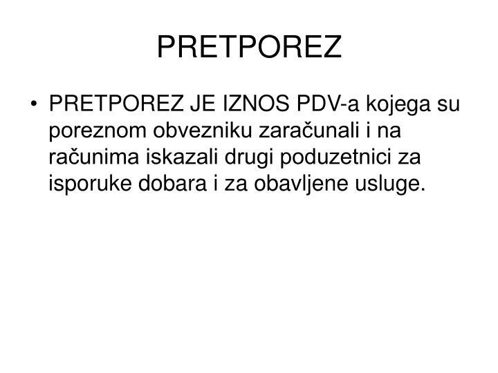 PRETPOREZ