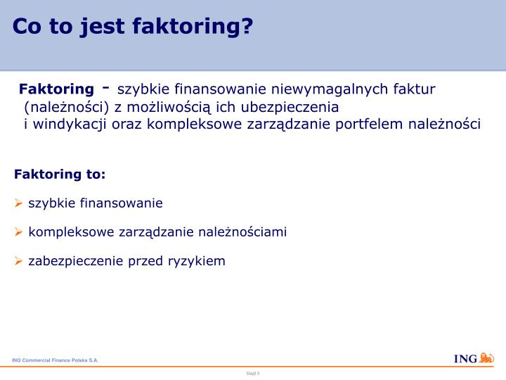 Co to jest faktoring?