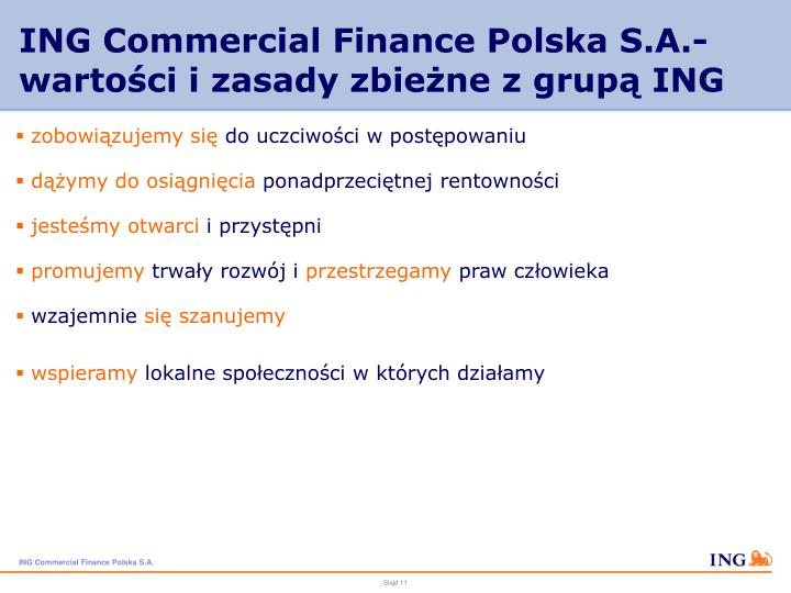 ING Commercial Finance Polska S.A.-