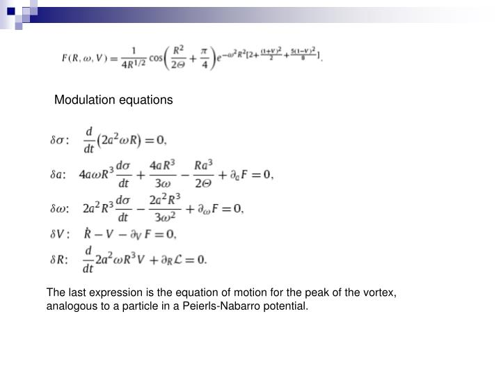 Modulation equations
