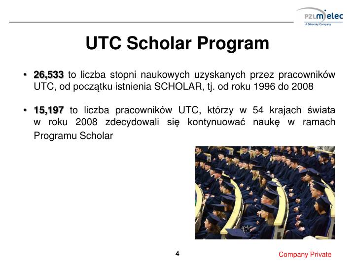 UTC Scholar Program