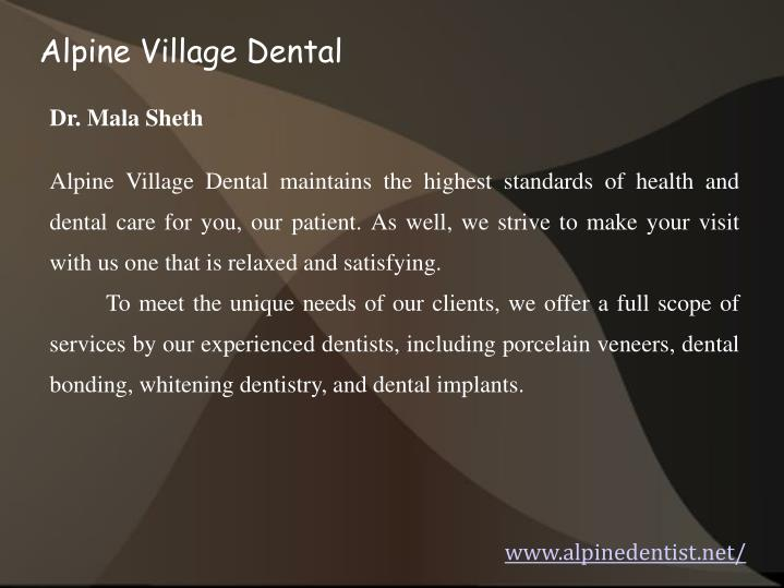 Alpine Village Dental