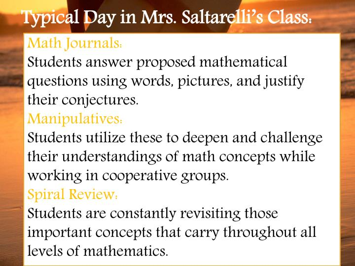 Math Journals: