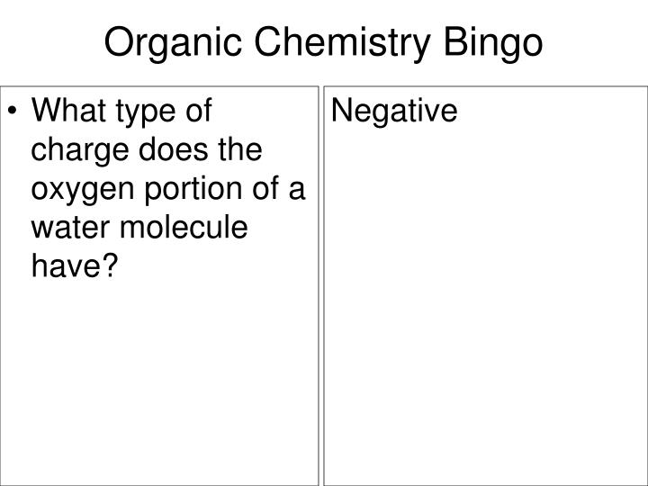 What type of charge does the oxygen portion of a water molecule have?