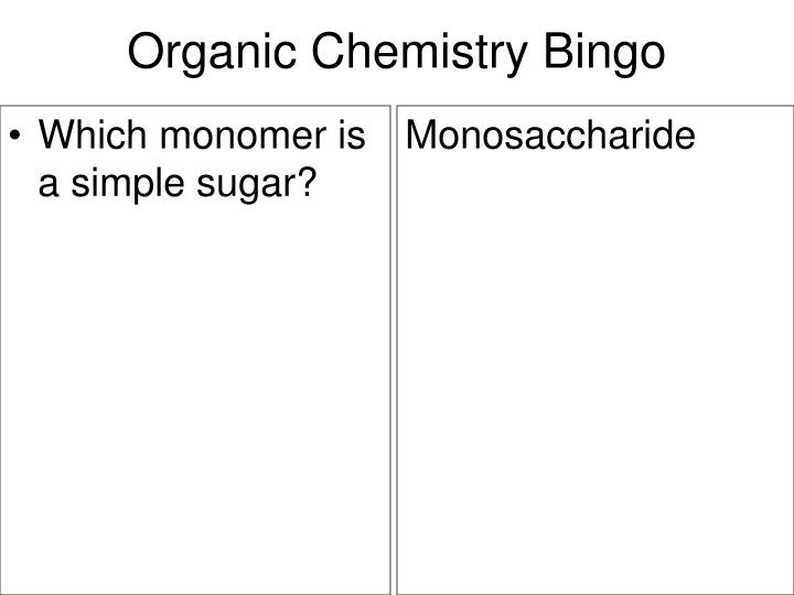 Which monomer is a simple sugar?