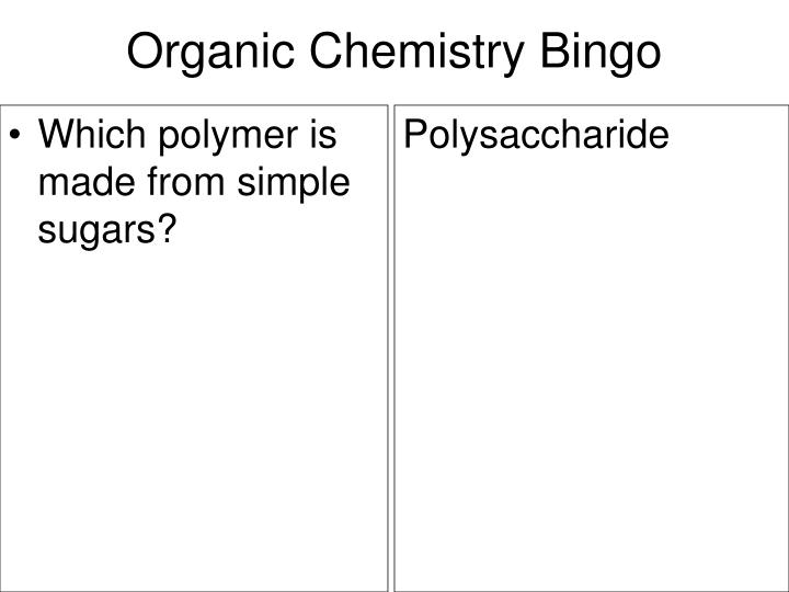 Which polymer is made from simple sugars?