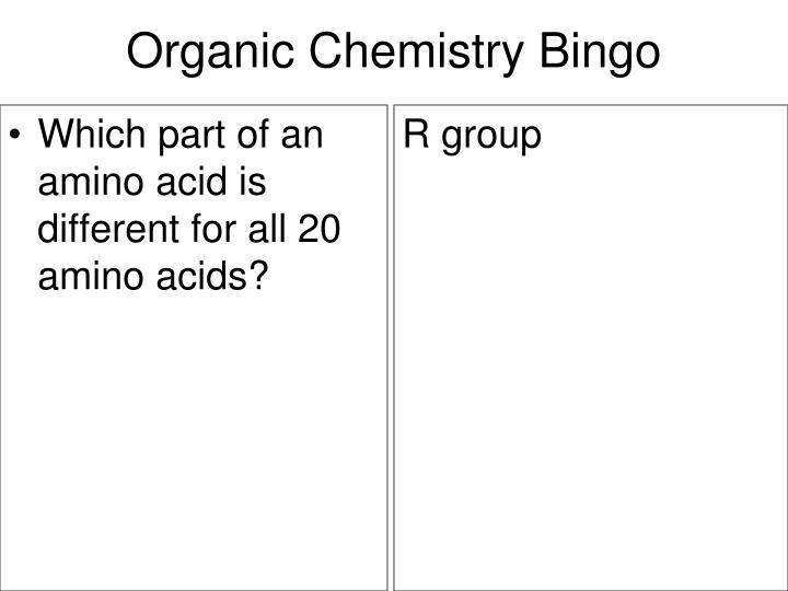 Which part of an amino acid is different for all 20 amino acids?