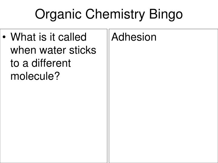 What is it called when water sticks to a different molecule?
