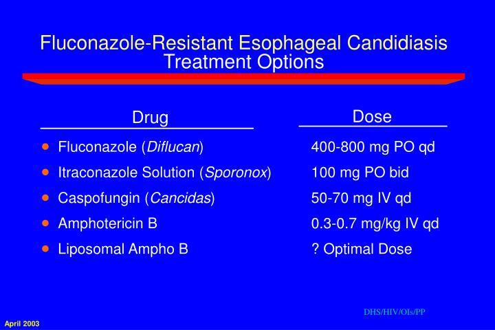 Fluconazole-Resistant Esophageal Candidiasis