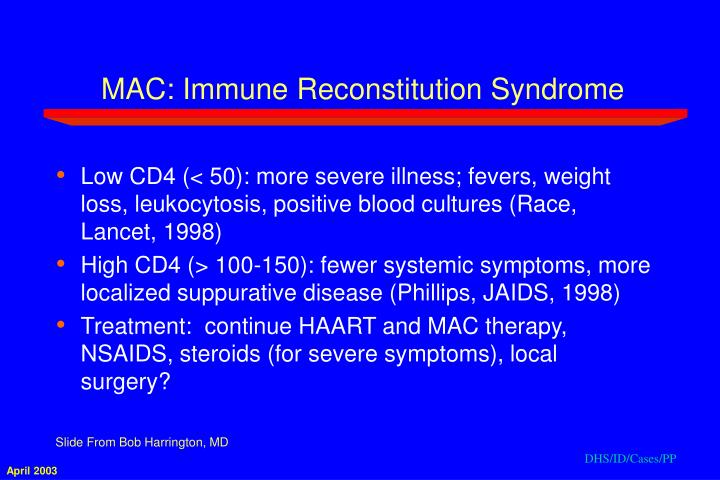 MAC: Immune Reconstitution Syndrome