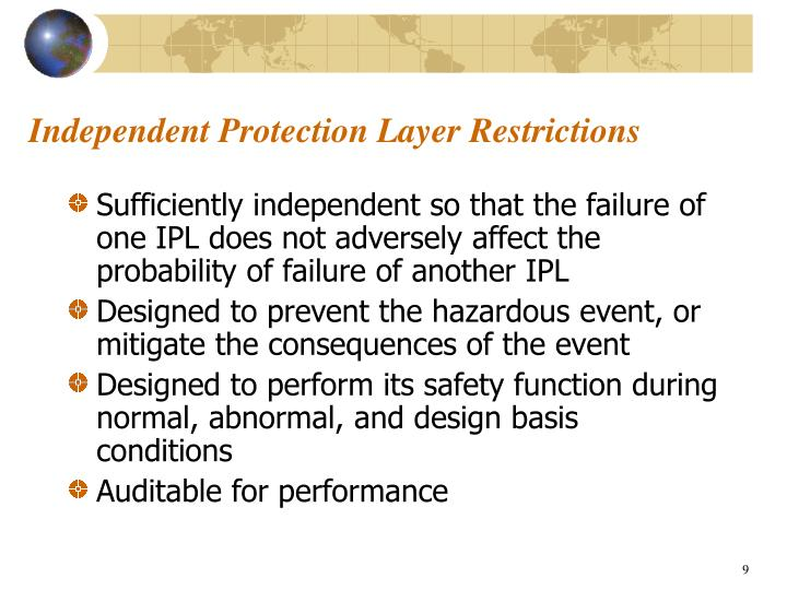Independent Protection Layer Restrictions